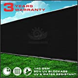 Commercial Grade 6'x50' Black Fence Privacy Screen (Custom Sizes Available)