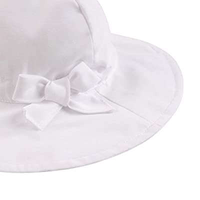 Baby Girls Sun Hat with Bow UPF50 Wide Brim Summer Bucket Sunscreen Caps for Babies Toddler