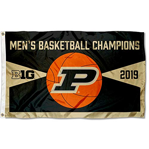 College Flags and Banners Co. Purdue Boilermakers 2019 Mens Big 10 Basketball Champions Flag