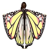 CHNS Halloween Prop Butterfly Wings Shawl Fairy Ladies Nymph Pixie Costume Accessory