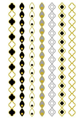 Hldiy waterproof Metallic Cross Evil eyes necklace pattern Tattoo stickers