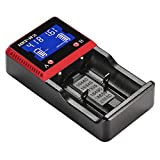 totobay Universal Smart Battery Charger with LCD Display for Li-ion, LiFePO4, Ni-MH and Ni-CD Rechargeable Batteries (2/Slot)