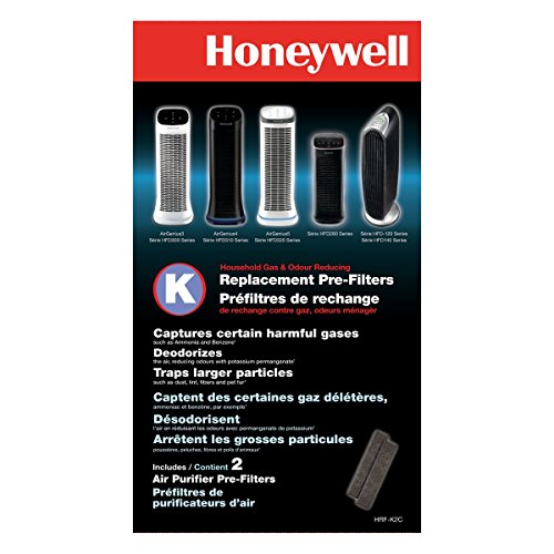 Honeywell HRF-K2 Household Odor & Gas Reducing Pre-filter (Filter K) - 2 Pcs - For Air Purifier