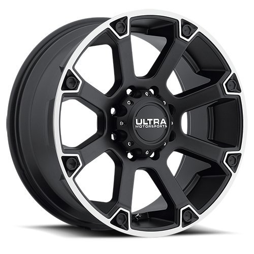 Ultra Spline 18 Black Wheel / Rim 5x5 with a 12mm Offset and a 78 Hub Bore. Partnumber 245-8973SB+12