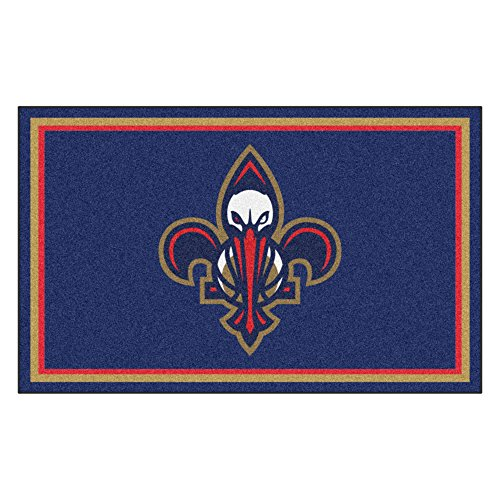 FANMATS 20436 NBA - New Orleans Pelicans 4'X6' Rug, Team Color, 44''x71'' by Fanmats