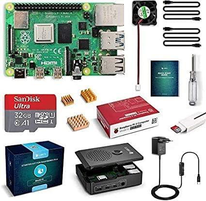 Bruphny Bo/îtier pour Raspberry Pi 4 avec syst/ème de refroidissement passif pour Raspberry Pi 4 Mod/èle B 8 Go 4 Go 2 Go 5 V 3 A USB-C On//Off Interrupteur dalimentation