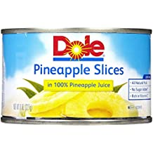 Dole Pineapple in Juice Slices - 8 oz - 12 Pack
