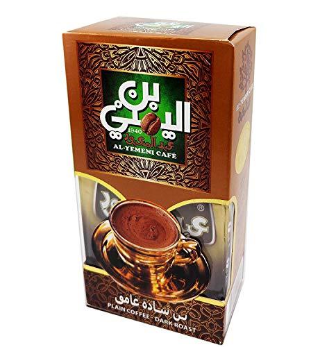 - EL-Yemeni Original Turkish Coffee Cafe Arabic Arabian Arabica Ground Roasted Mud Coffee ( Palin Coffee Dark Roast 200gm )