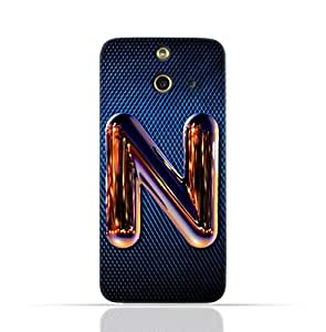 Htc E8 Case with Chrome Night Letter N Design