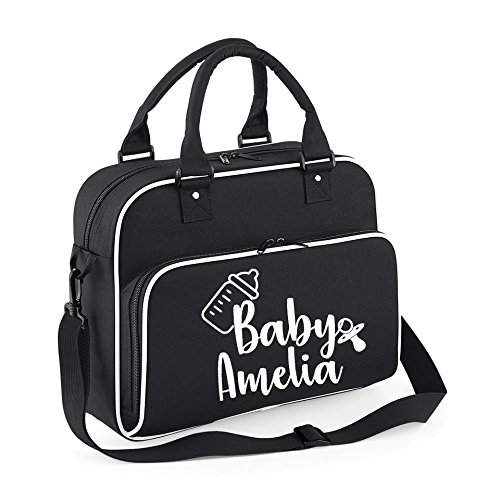 dfc9aa0747674 Image Unavailable. Image not available for. Colour: Personalised Baby Name Changing  Bag ...