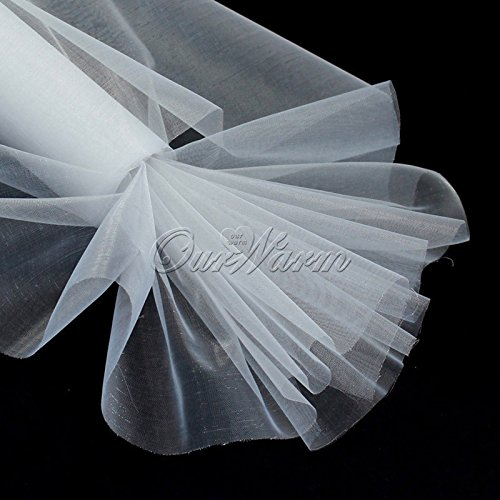 25m X 29cm White Roll Soft Sheer DIY Organza Fabric Wedding Party Chair Sash Bows Swag Decoration