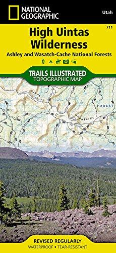 (High Uintas Wilderness Map)