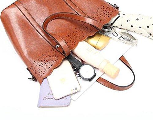 Bag Fashion Shoulder Big Handbag Burgundy Shoulder Woman's qRwHtnZv