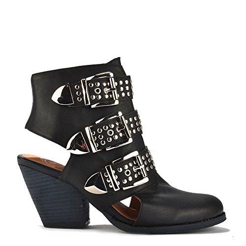 Jeffrey Campbell Schuhe Colburn Boots aus Leder, Damen Schwarz