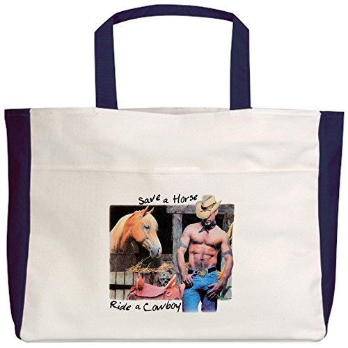 Royal Lion Beach Tote (2-Sided) Country Western Cowgirl Save A Horse - (Save A Horse Ride A Cowboy Costume)