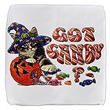 18 Inch 6-Sided Cube Ottoman Halloween Got Candy Kitten Pumpkin
