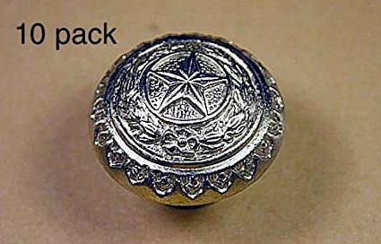 Charmant TEXAS STATE SEAL KNOB SN WESTERN CABINET HARDWARE DRAWER PULLS STAR KNOBS  (10)