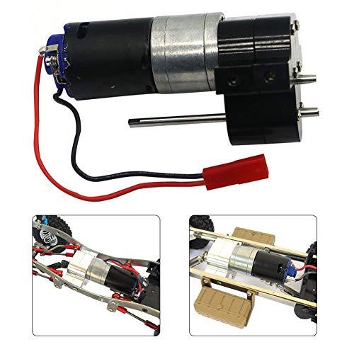 Stylishbuy Cooling Fan Practical Speed Change Gear Box Metal Gearbox 370 Motor Heat Sink for WPL RC Car ()