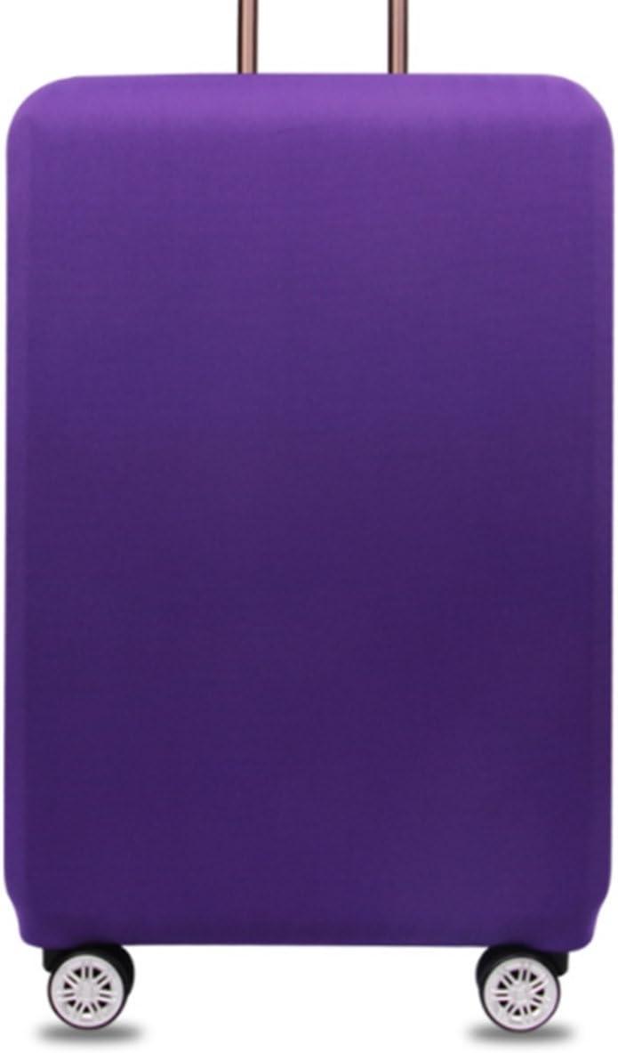 YianBestja Monocromático Elástico Funda Protectora de Maleta Cubierta de Equipaje de Viaje Maleta Funda Protectora Cabe 18-32 Pulgadas Equipaje (Violeta, XL)