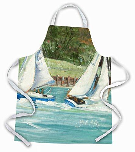 - Caroline's Treasures JMK1291APRON Boats on the Bay Sailboats Apron, Large, Multicolor