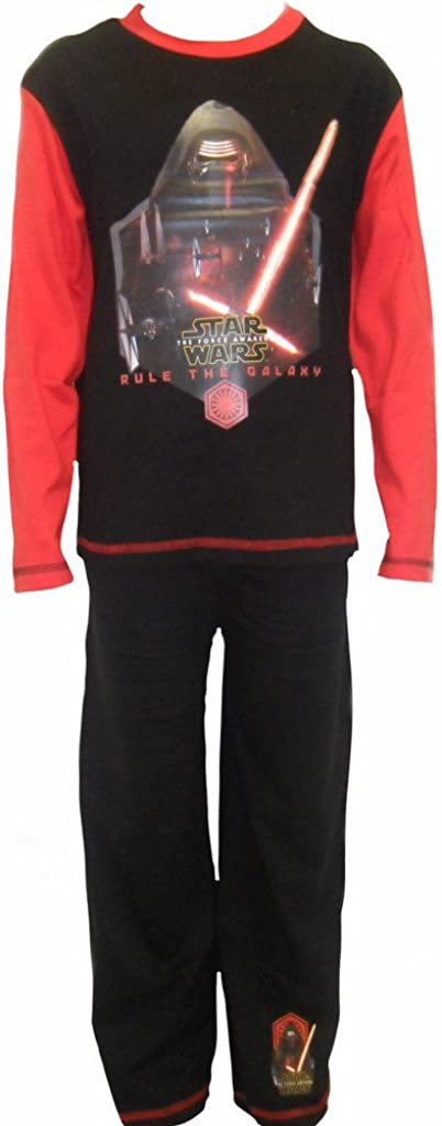 Boys Pyjamas Rule The Galaxy Kylo Ren Star Wars Pjs Force Awakens 4 to 8 Years