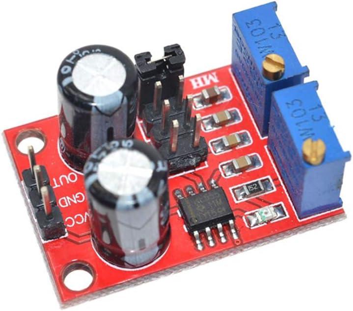 HUIMAI 5PCS//lot NE555 pulse frequency duty cycle adjustable module,square//rectangular wave signal generator,stepping motor driver