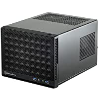 Silverstone Technology Ultra Compact Mini-ITX Computer Case with Mesh Front Panel in Black SG13B