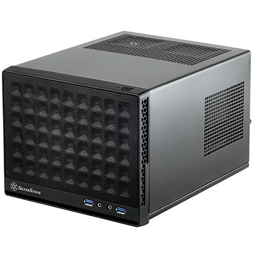 SilverStone Technology Ultra Compact Mini-ITX Computer Case with Mesh Front Panel Black (SST-SG13B-USA)