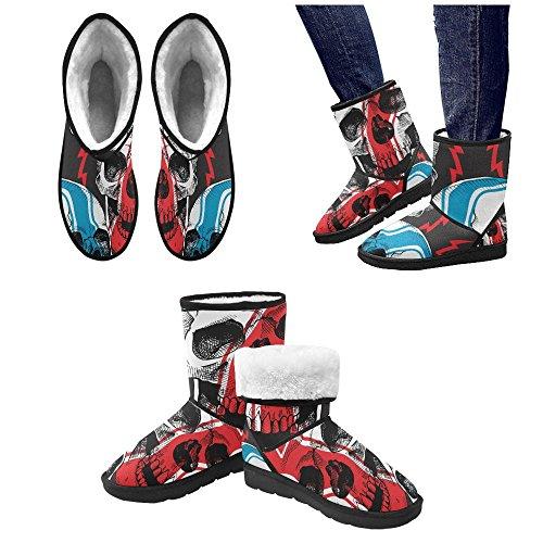 Interestprint Leinterest A Racer Skull Snow Boots Moda Scarpe Da Uomo