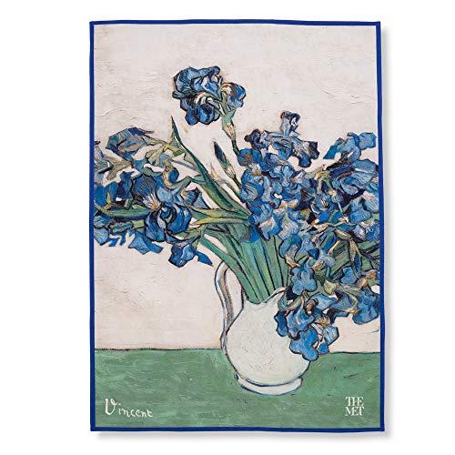 THE METROPOLITAN MUSEUM OF ART Van Gogh Floral 100% Cotton Large Tea Towel, 27