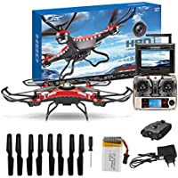 Sympath JJRC H8D 5.8G FPV RC Quadcopter Camera With Monitor + 8pc Spare Propeller Gift