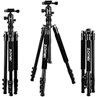 Zomei Q555 Lightweight Alluminum Alloy Camera Tripod with 360 Degree Ball Head + 1/4 Quick Release Plate For Canon Nikon Sony Samsung Panasonic Olympus Fuji DSLR And Camcorders