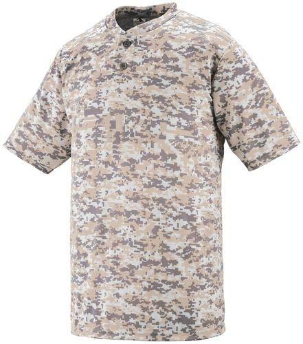 Sportswear Wicking Button Augusta - Augusta Sportswear Digi Camo Wicking Two-Button Jersey M Sand Digi