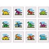 Dinosaurier Tattoos, packung mit 18 stück - Multi