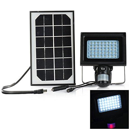 Solar Powered 1-CH Windows 7 Projection Lamp + 1.3MP PIR DVR - Black by OLSUS