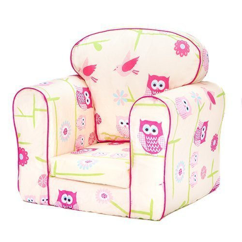 Ready Steady Bed® Owls Design Upholstered Children's Armchair with Removable Cover