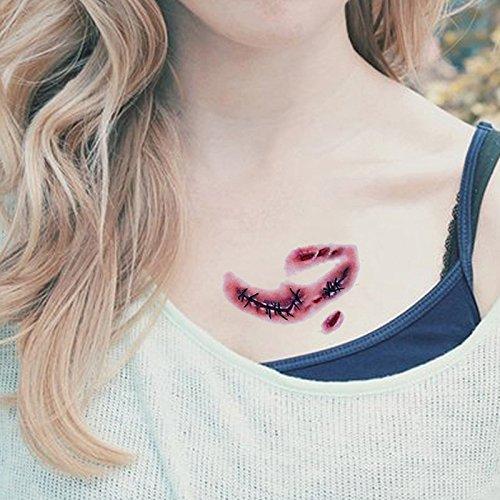 wicmeoon 2pcs impermeable Gemelos tatuaje Tattoo tatuaje temporal ...