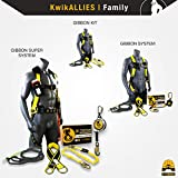 KwikSafety (Charlotte, NC) GIBBON GRIP 3 ft. Safety Anchor Cross Arm Strap Beam Choker ANSI Fall Arrest System Web pass thru Double D Ring Anchorage Sling OSHA Protection Harness Lanyard