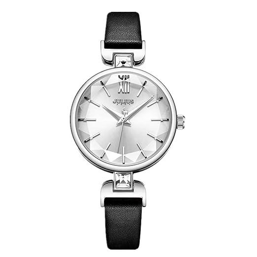 Reloj De Mujer Taladro Clásico De Agua Negro Moda Simple Núcleo Impermeable De Cuarzo Reloj con Encanto Relojes de Pulsera: Amazon.es: Relojes