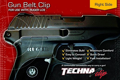 - Techna Clip - Ruger LC9 or LC - Conceal Carry Belt Clip (Right-Side)