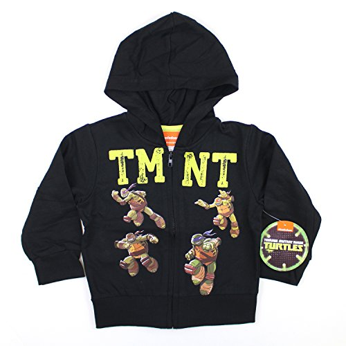 (KIDS COMIC SUPERHERO ZIP-UP FLEECE HOODIE (2T, TMNT)
