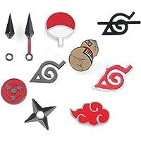 OYSTERBOY Naruto Ninja Shippuden 10 Pcs Enamel Pin Set Akatsuki Dawn Cloud/Sharingan Eye/Uchiha Clan/Garra Kazekage…
