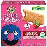 Earth's Best Organic Sesame Street Sunny Days Toddler Snack Bars, Strawberry, 5.3 Ounce (Pack of 6)