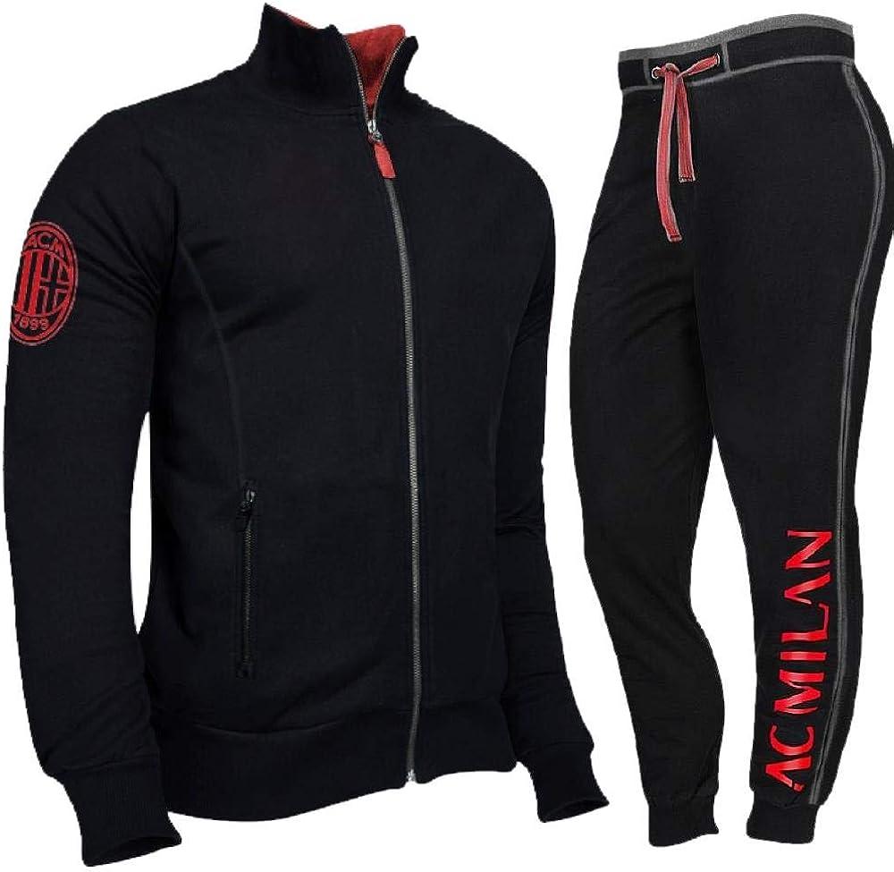 Tuta Milan Calcio Felpa e Pantalone Abbigliamento AC Milan PS ...