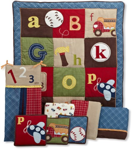 Cocalo 8 Piece Crib Bedding Set, A to Z Boy, Baby & Kids Zone
