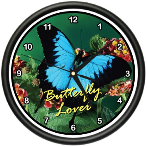 SignMission Butterfly Wall Clock Kitchen Home Decor, Beagle