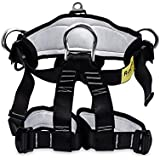 Climbing Harness,Professional Thicken Waist Leg Protected Tree Arborist Climbing Safety Harness, Wider Seat Belts for Mountain Fire Rescue,Rock Climbing Rappelling,Half Body Harness for Women Man Kids