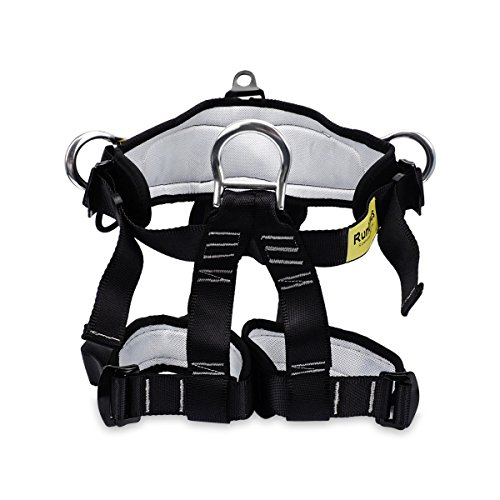 RunElves Climbing Harness,Thicken Protect Waist Leg Safety Harness, Wider Safe Seat Belts for Mountaineering Outward Band Fire Rescue,Rock Climbing Rappelling Equip,Women Man Child Half Body Harness