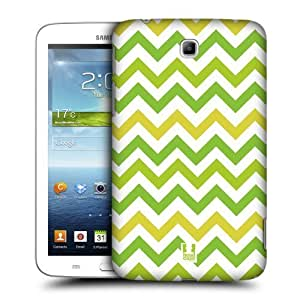 AIYAYA Samsung Case Designs Green Yellow Chevron Pattern Protective Snap-on Hard Back Case Cover for Samsung Galaxy Tab 3 7.0 P3200 T210 WiFi