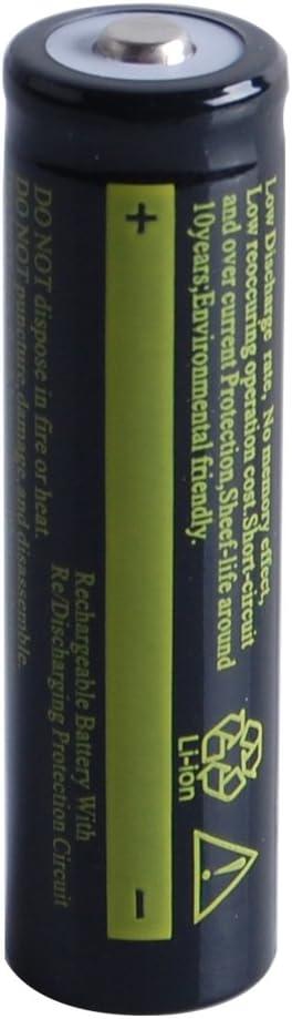 Alician 3.7V 18650 4200 Ah Li-ion bater/ía recargable para linterna antorcha negra